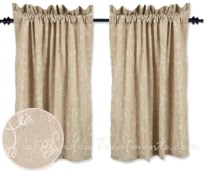 Taupe Window Curtains