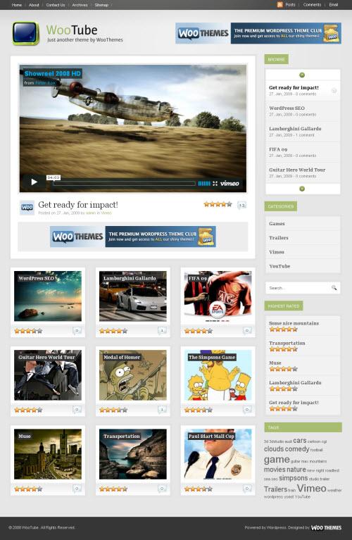 WooTube Premium WordPress Theme Best WordPress Themes