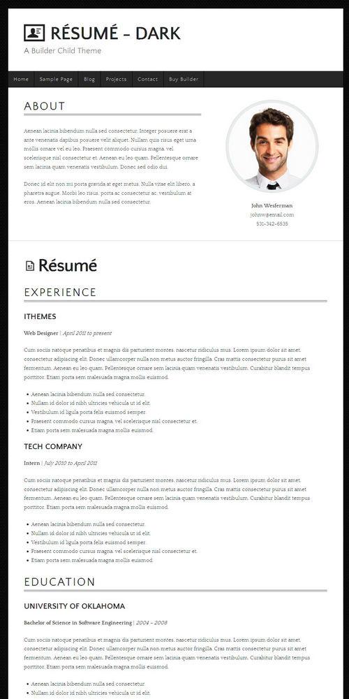 best resume builder plugin wordpress
