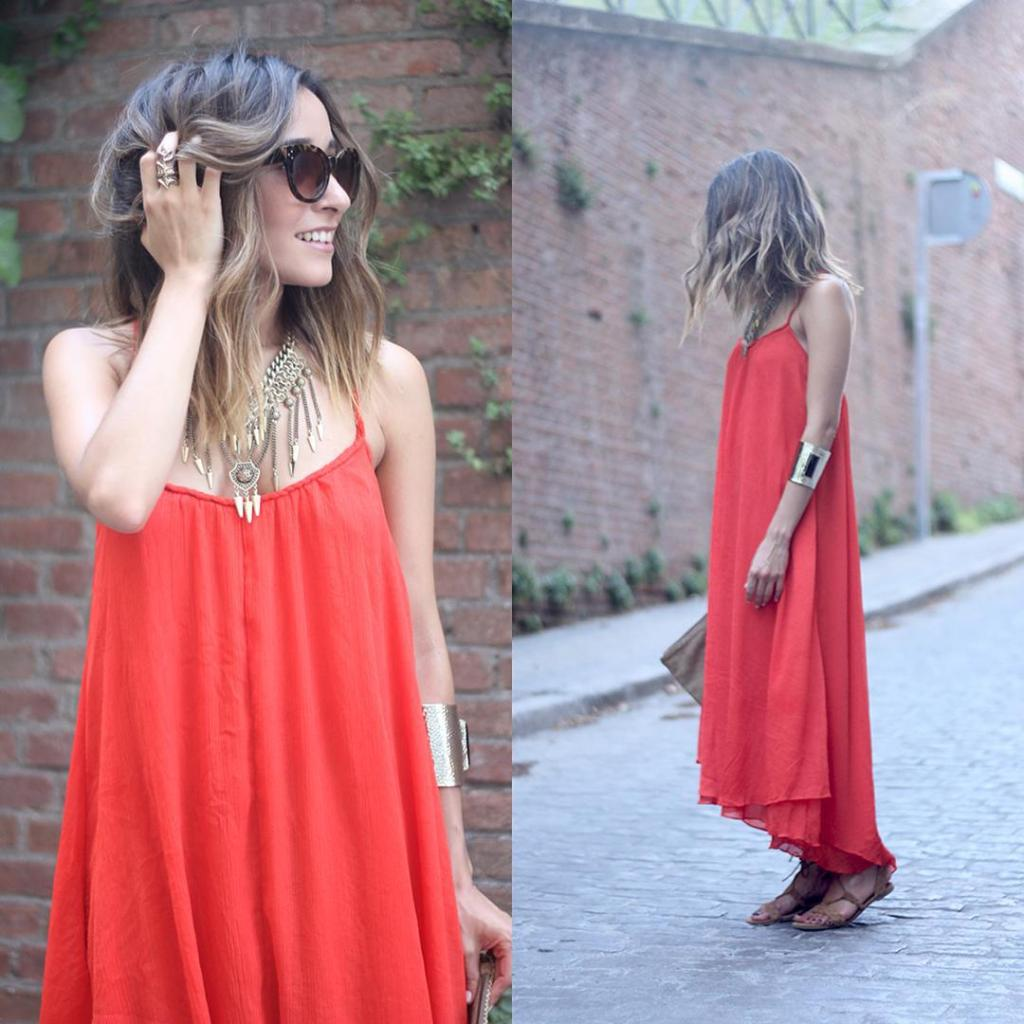 Nuevo post con un maxi vestido rojo New post onhellip
