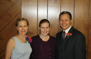 Bethany with parents