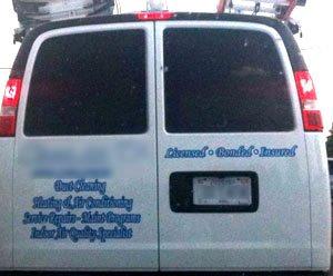 van with poor readability