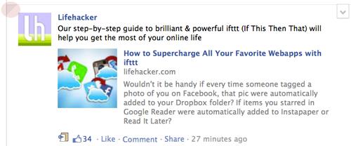 Facebook top stories