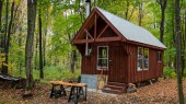 Guest cabin in fall