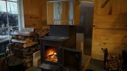Amish oven on wood stove