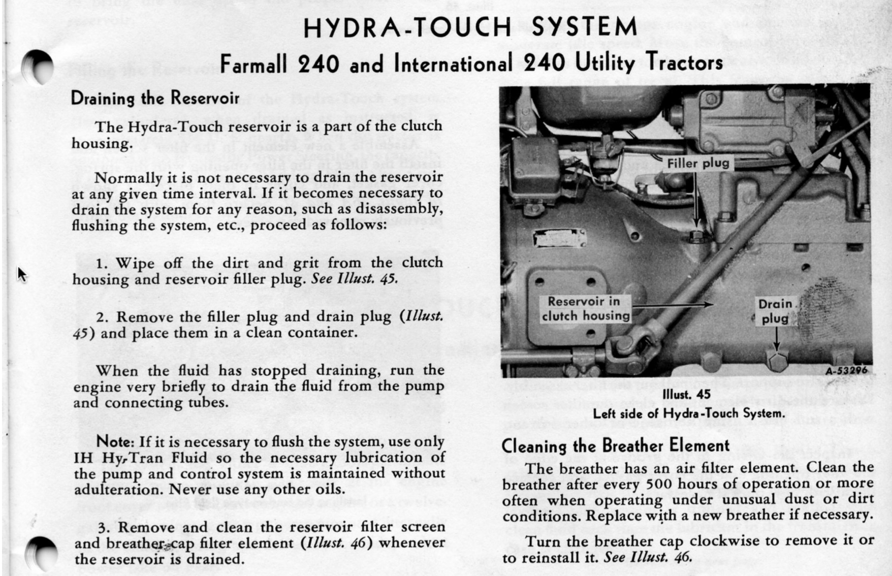 farmall 240 hydraulic system diagram farmall tractor