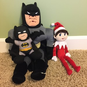 Silverbells with big Batman and little Batman