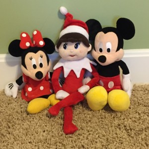 Silverbells posing with Minnie and Mickie