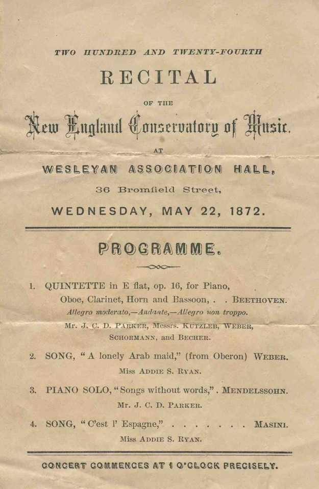 A Concert Program and a Lock of Hair Betsy Woodman
