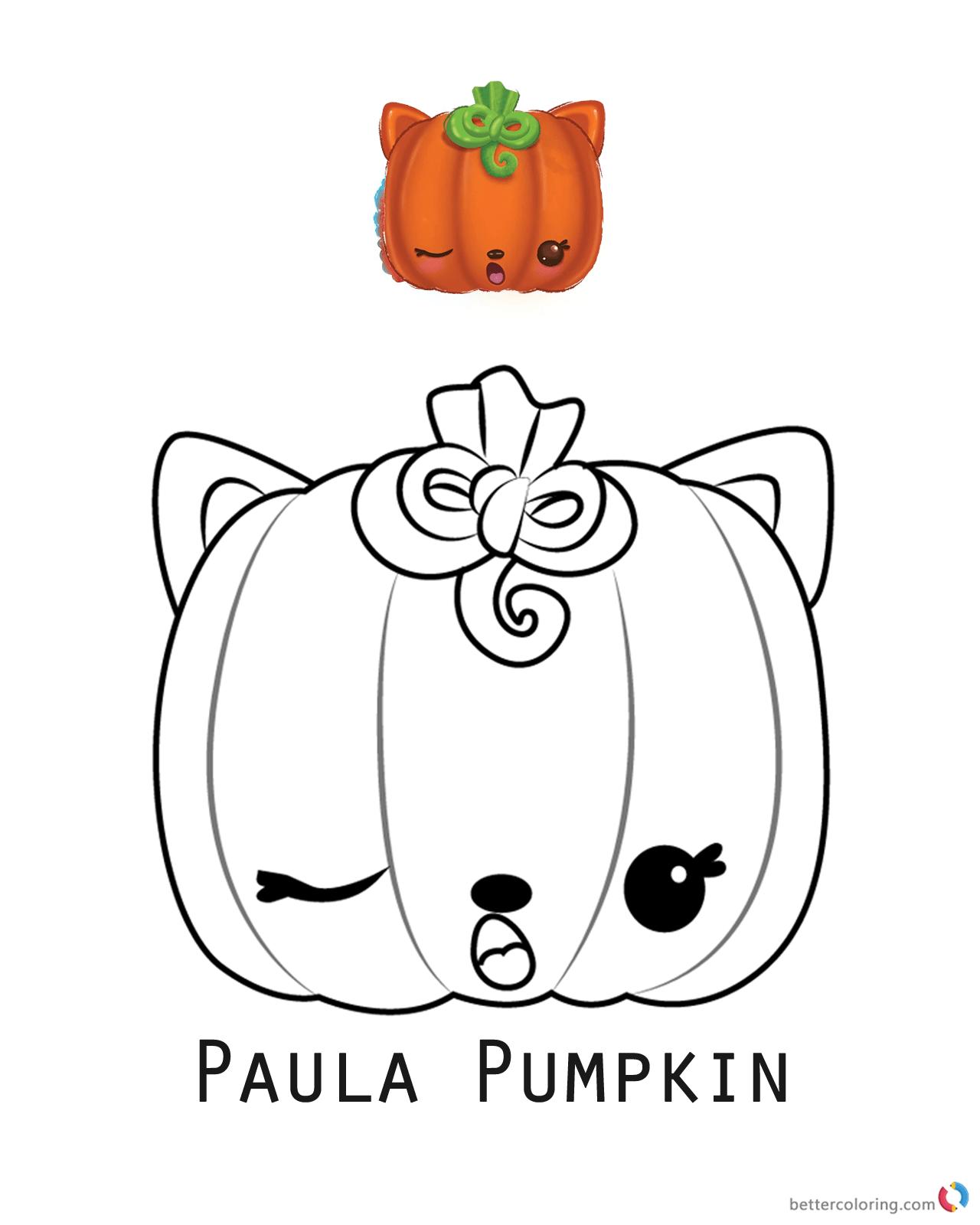 Num Noms Coloring Pages Series 3 Paula Pumpkin