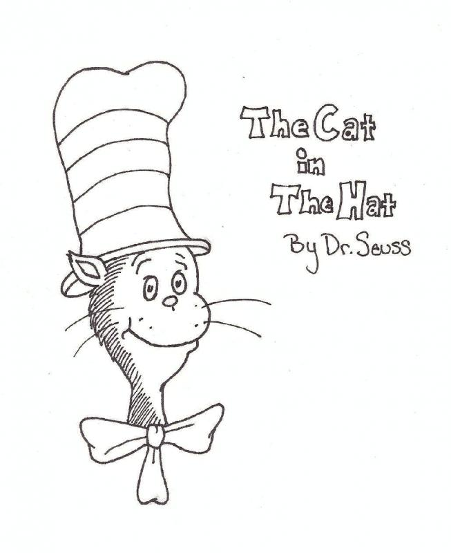 Cat in the hat coloring pages printable free  Benjamin franklin