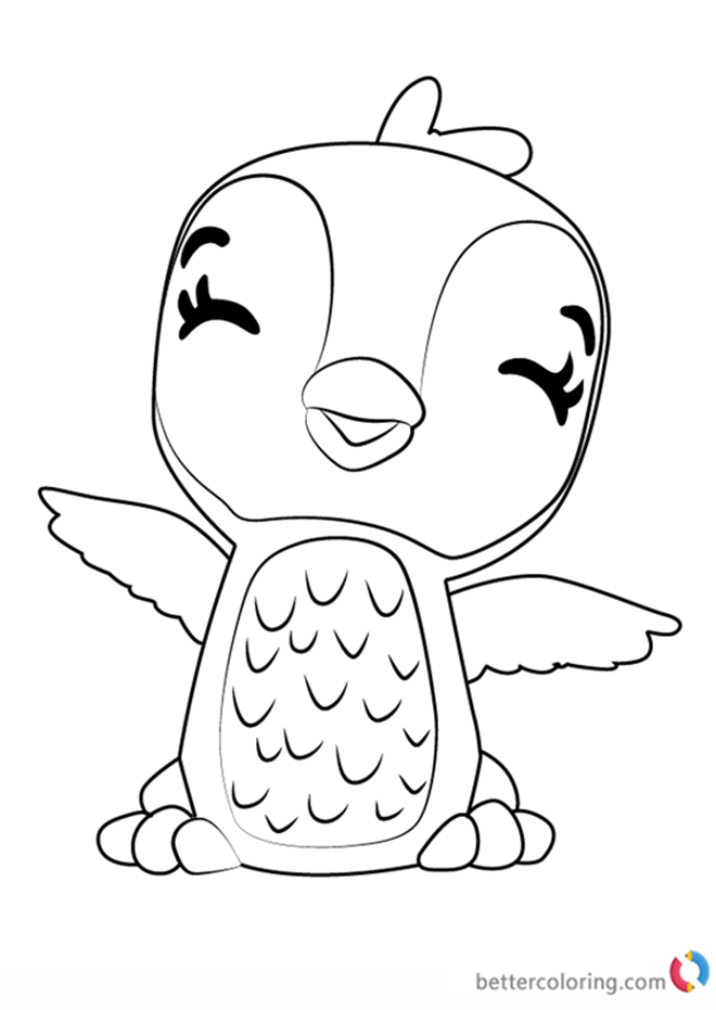 Print This Coloring Page Hatchimals Pages Colleggtibles Auto