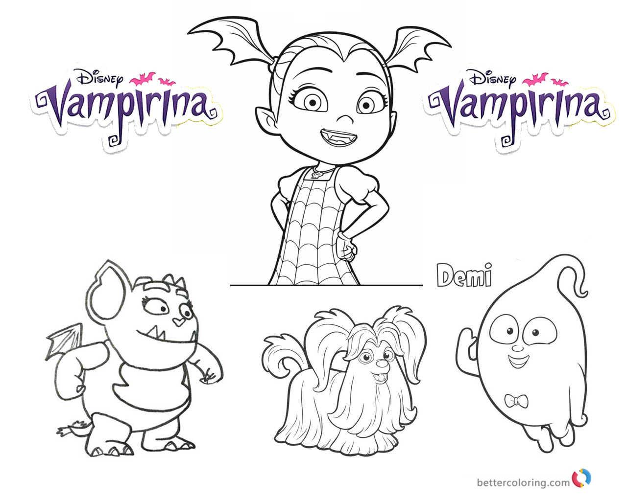 Cozy Vampirina Coloring Pages Vampirina And Cute