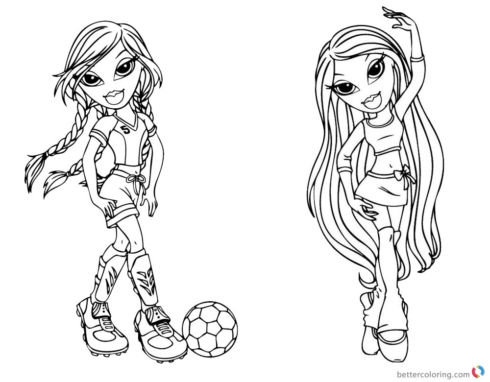 Bratz Coloring Pages Babyz Doll Fianna Free Printable