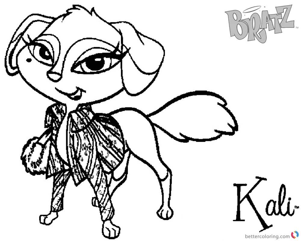 Bratz Coloring Pages Kali Petz Doll Free Printable