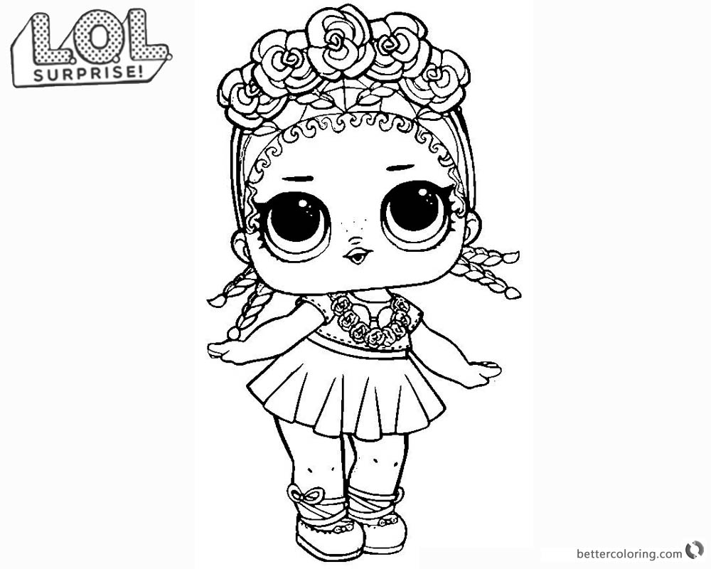 Beautiful Lol Coloring Pages Lil Queen And Lil Sugar Queen