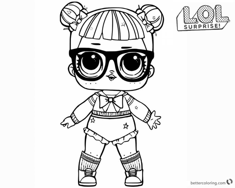 Beautiful Lol Surprise Doll Coloring Pages Free Printable Coloring