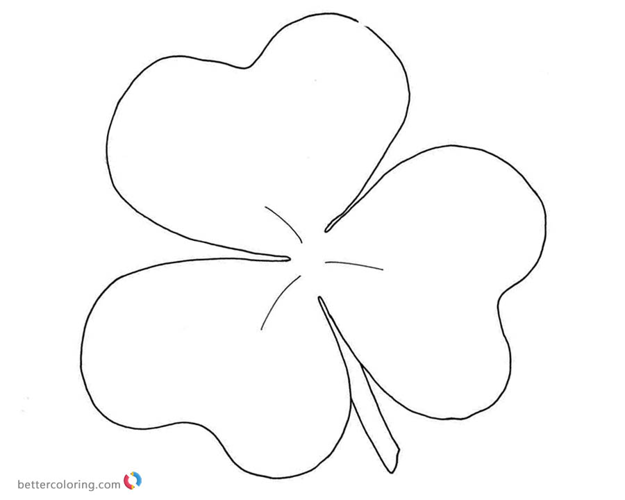 Shamrock coloring pages simple art - Free Printable Coloring Pages - shamrock color pages