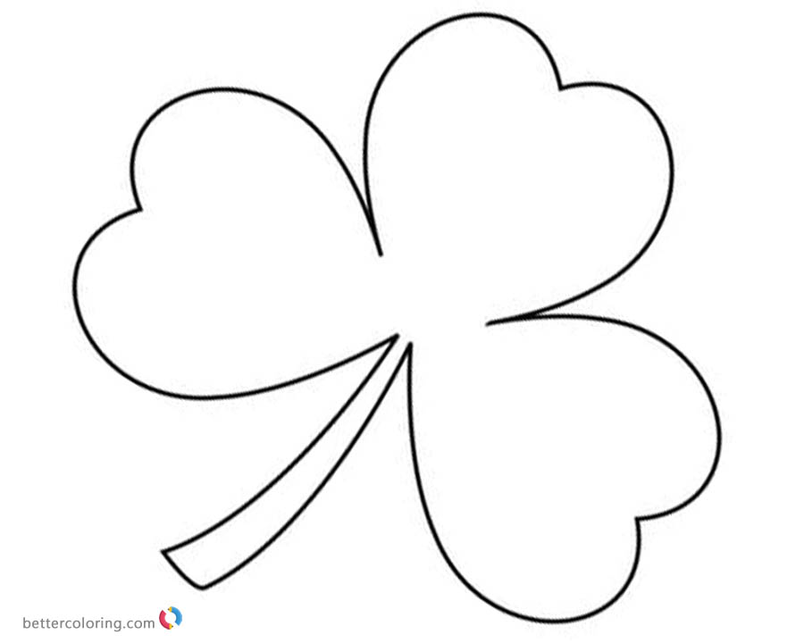St Patrick day Shamrock coloring pages - Free Printable Coloring Pages - shamrock color pages