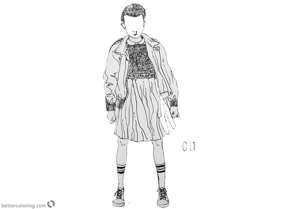 Cozy Stranger Things Coloring Pages Characters By