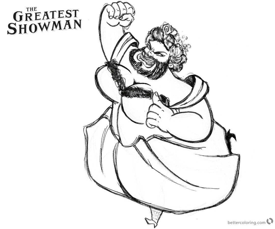 The Greatest Showman Coloring Pages Lettie By Christine SaveEnlarge