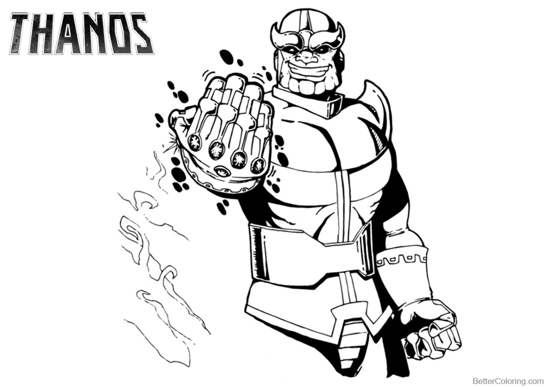 Thanos Fortnite Coloring Page Auto Electrical Wiring Diagram