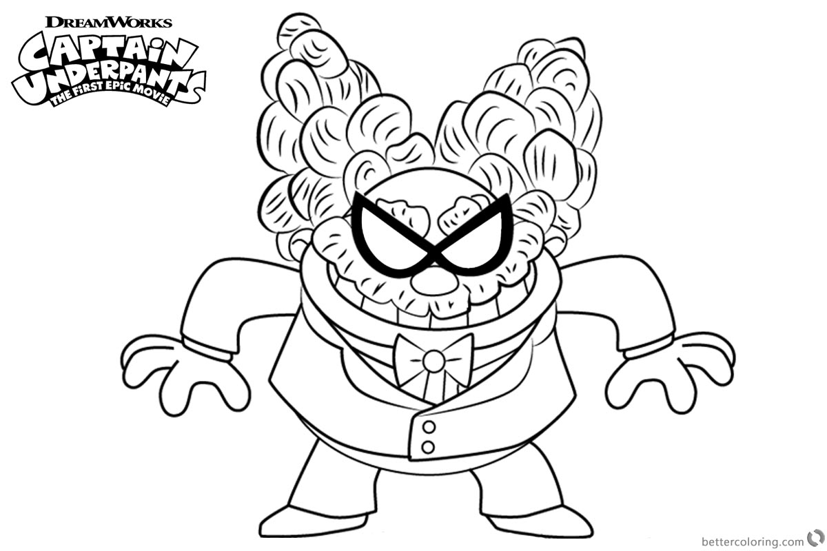 Captain Underpants Coloring Pages - Costumepartyrun