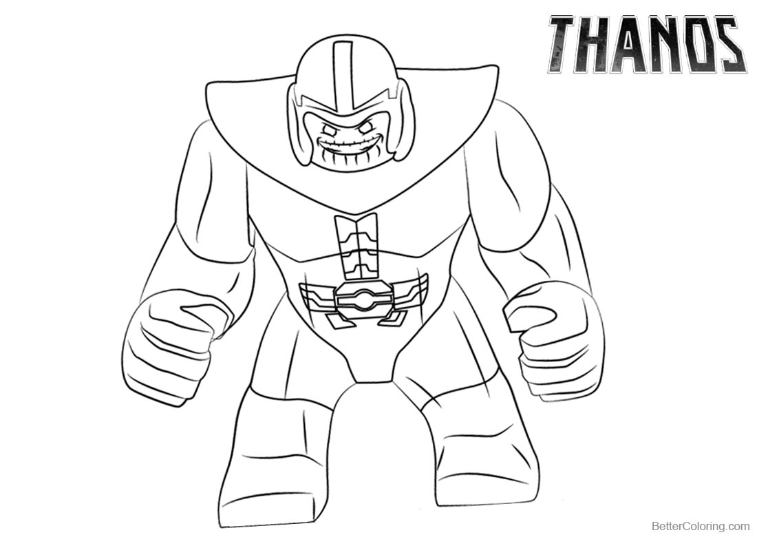 Cozy Thanos Fortnite Coloring Page Coloring Pages Fortnite