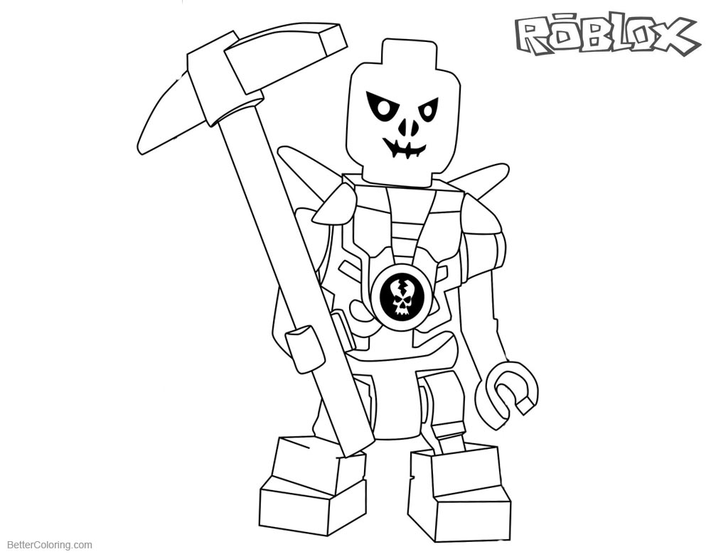 Noob From Roblox Coloring Pages Auto Electrical Wiring Diagram