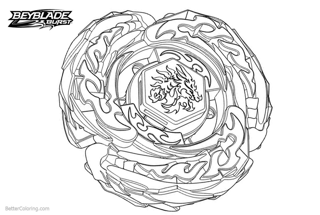 Beyblade Burst Evolution Coloring Pages With Dragon Auto