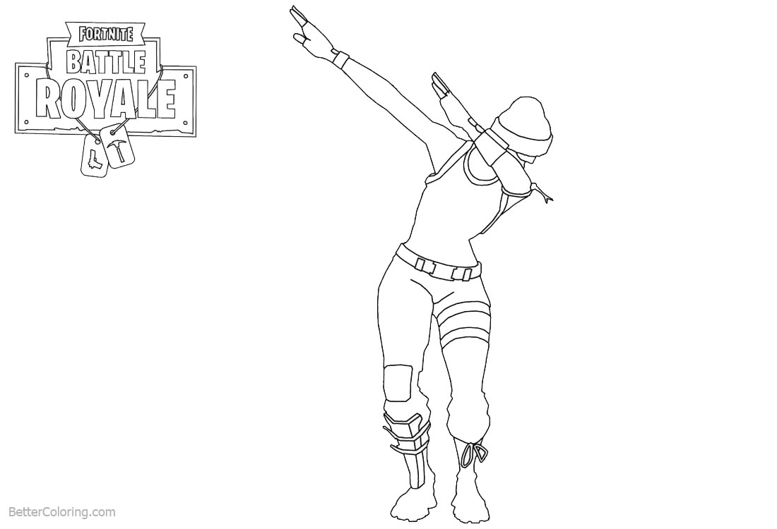 Amazing Dab From Fortnite Coloring Pages Free Printable Coloring