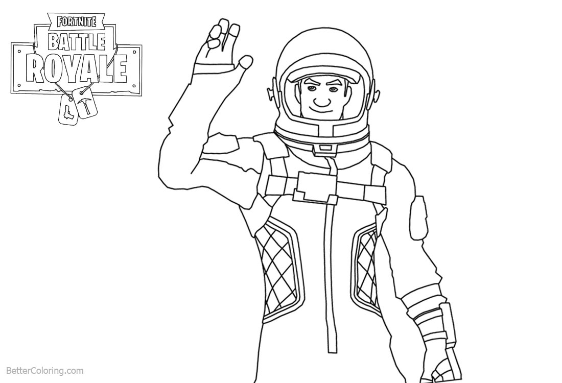 Amazing Fortnite Coloring Pages Characters Clipart Free Arenda Stroy