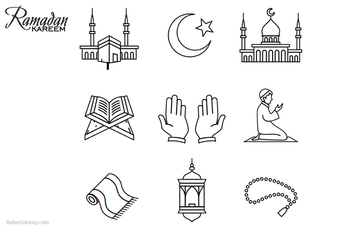Ramadan Coloring Pages Printable - Democraciaejustica