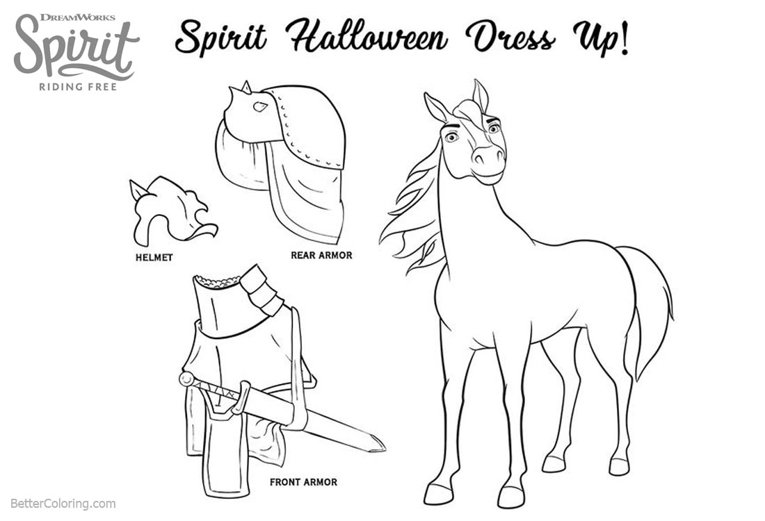 Spirit Riding Free Coloring Pages Halloween Dress SaveEnlarge