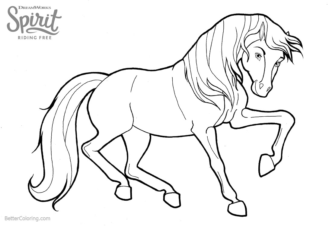 Spirit Riding Horse Free Coloring Pages Printable SaveEnlarge