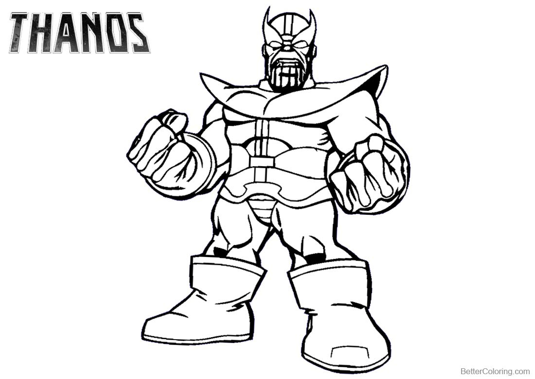 Thanos Coloring Pages Arenda Stroy
