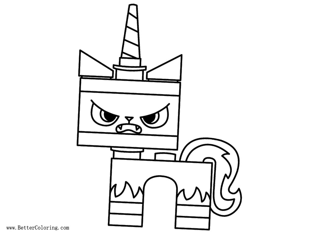 Unikitty Printable Coloring Pages