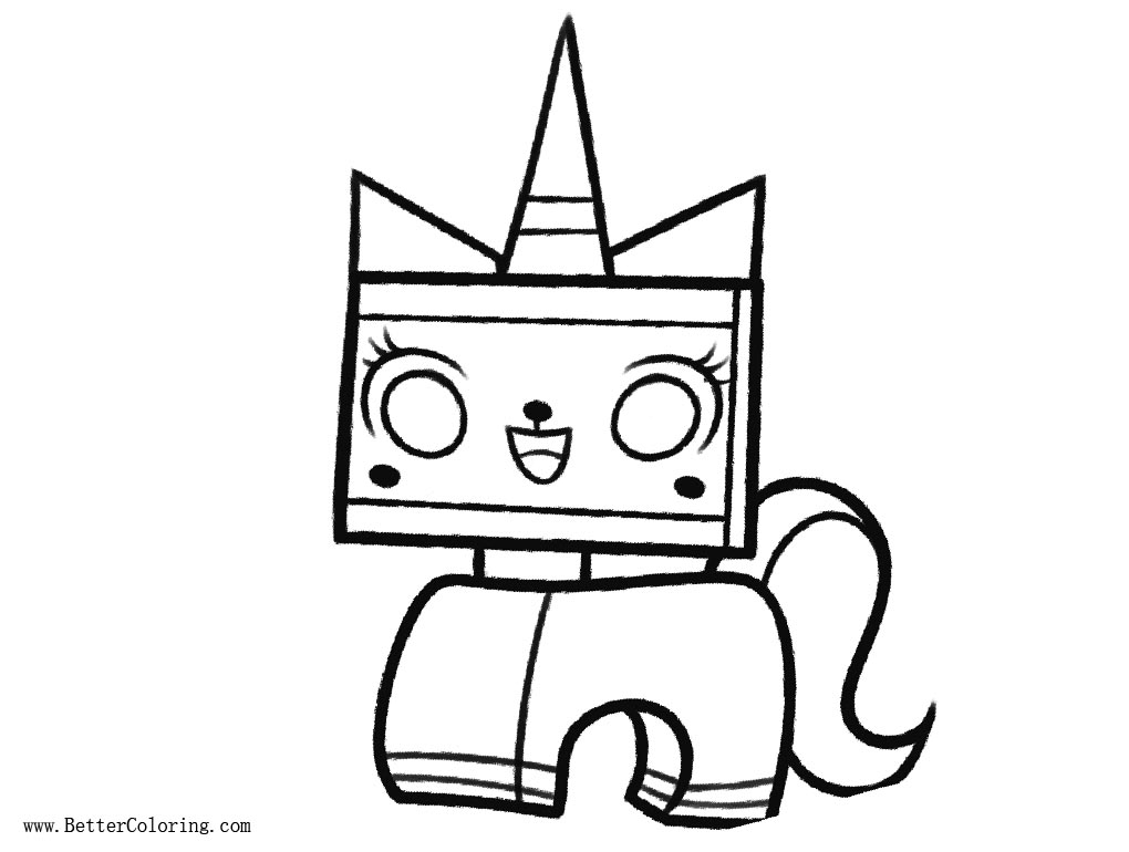 Lego Movie Unikitty Coloring Pages