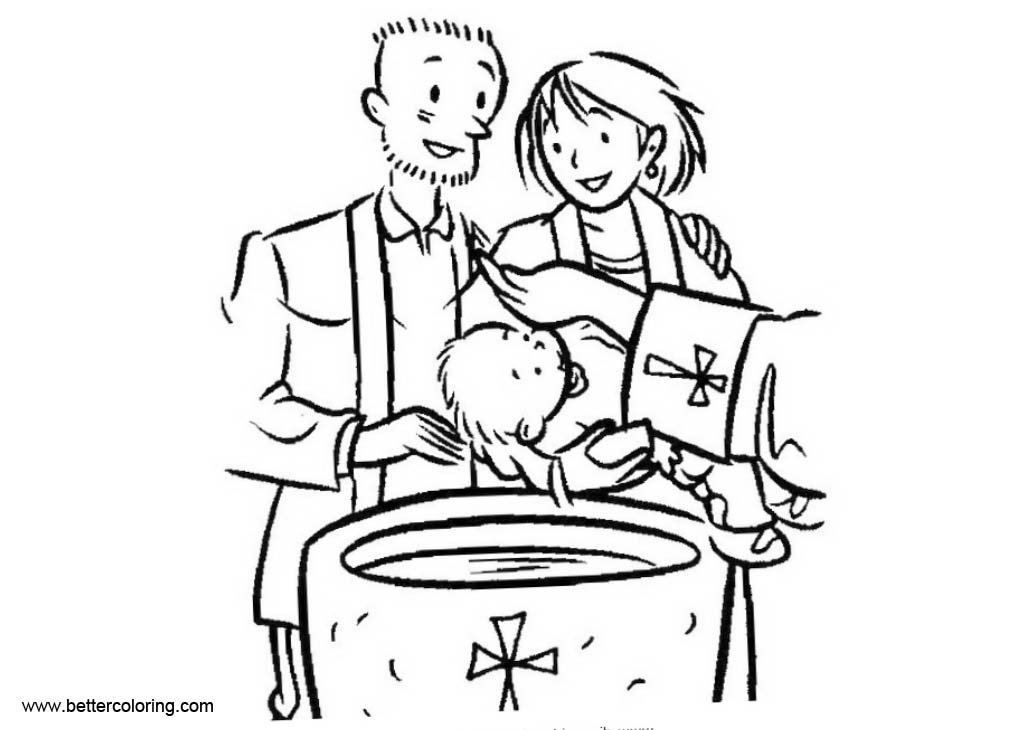 Best Baptism Of Jesus Coloring Page Baptism Coloring Pages