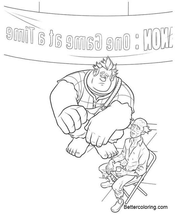 Wreck It Ralph Coloring Pages One Game at a Time - Free Printable