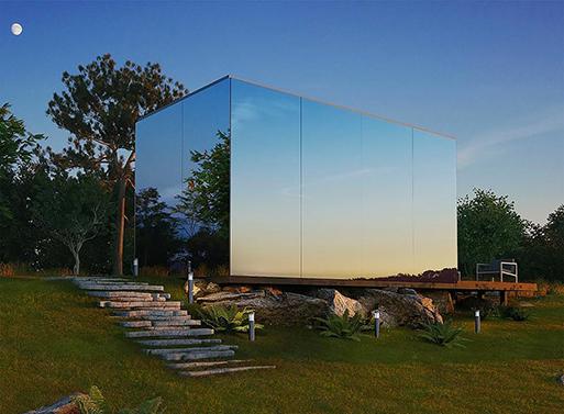 Mini, Mirrored Prefab House