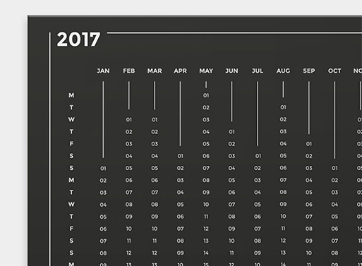 2017 Scratchable Wall Calendar
