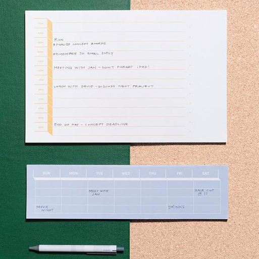 Daily, Weekly, Desk Notepads