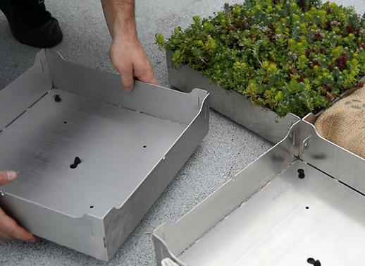 Fairmount Aluminum Tile Planters