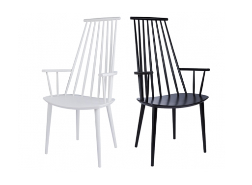 J110 chair white black