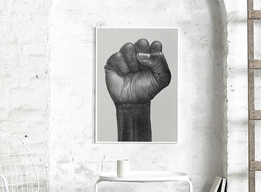 Raised Fist Poster by Paper Collective & Børge Bredenbekk