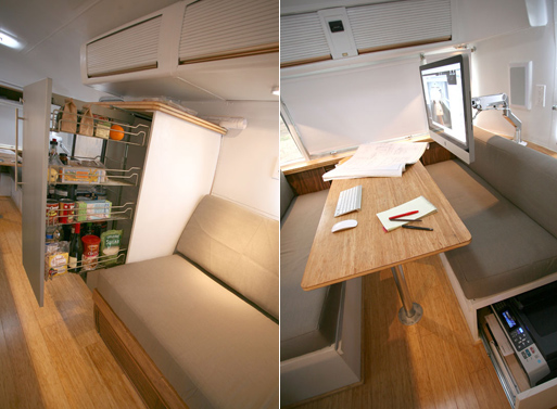 HofArc Airstream Renovation pantry office