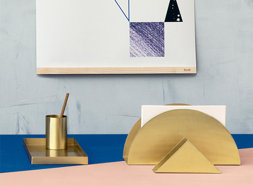 Brass Desk Set Ferm Living