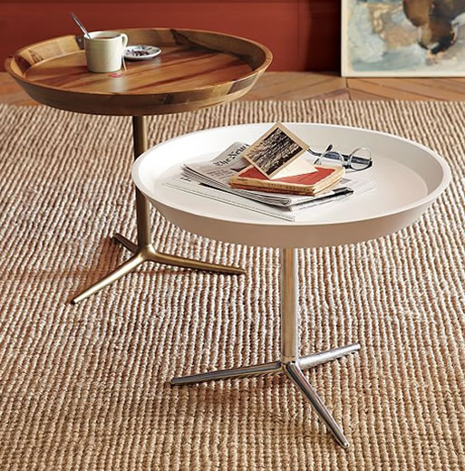 Cast-iron base tray side table