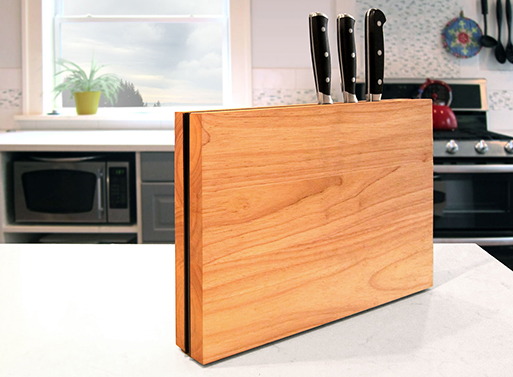 Chops Cutting Boards and Knife Rack closed